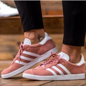 NEW IN BOX ADIDAS Gazelle pink and white sneaker